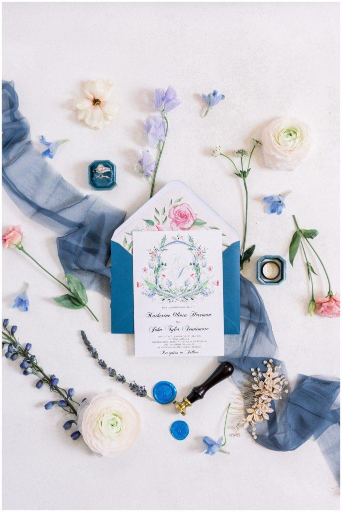 wedding invitation at Phillipsburg, New Jersey wedding