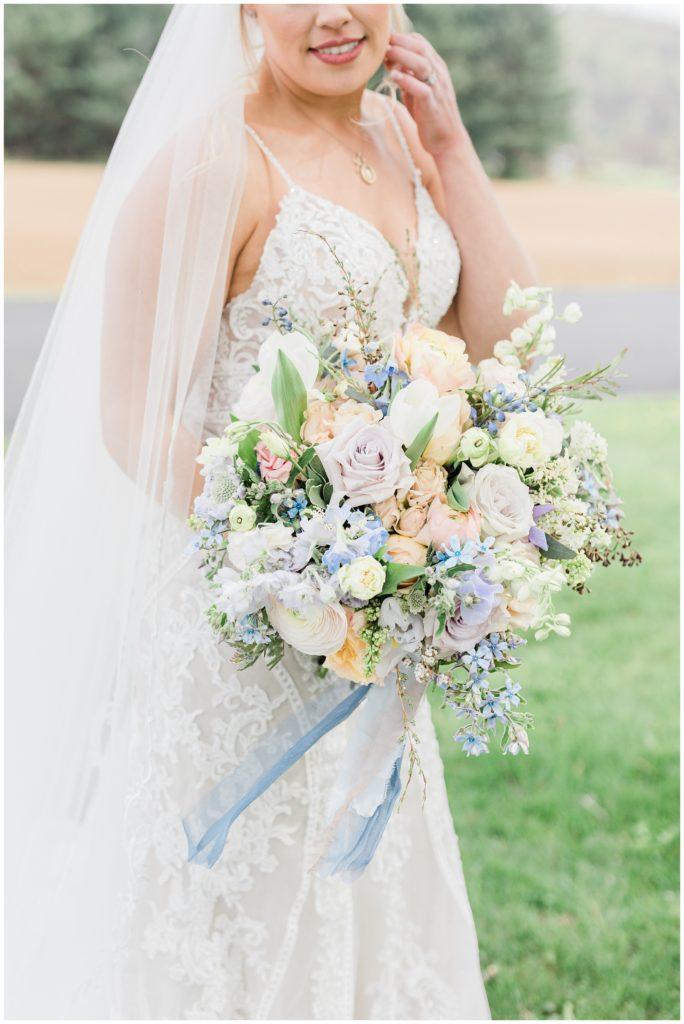 spring bridal bouquet at Phillipsburg, New Jersey wedding