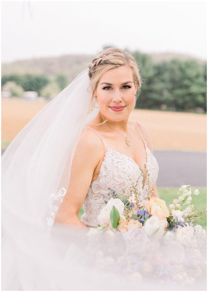 bridal portrait at Phillipsburg, New Jersey wedding