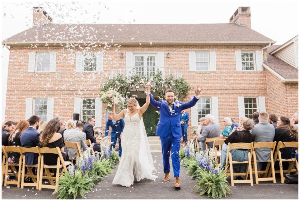 front yard ceremony at Phillipsburg, New Jersey wedding