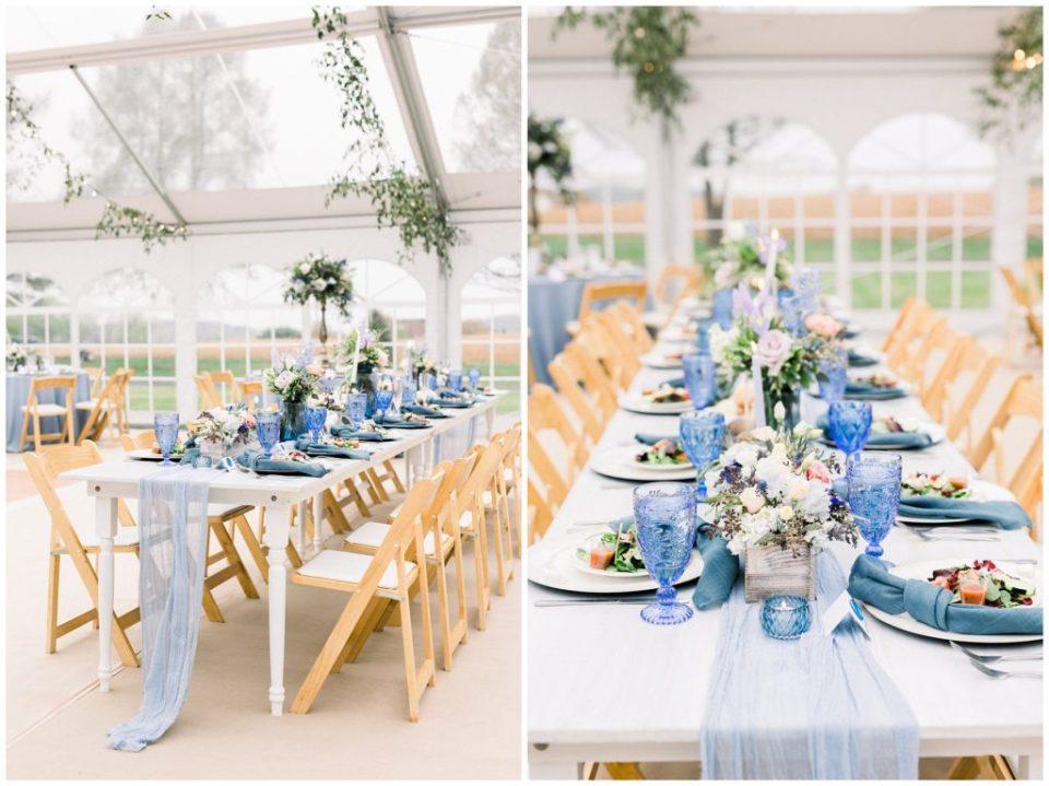 dusty blue wedding reception in Phillipsburg, New Jersey