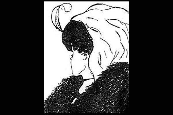 """Ein weiterer Effekt der so genannten """"multistabilen Wahrnehmung"""" (""""multi"""" bedeutet """"viel"""") - also des Gestaltwechsels: Auf diesem Bild sieht man entweder eine junge Frau, die den Kopf nach hinten dreht, oder eine alte Frau mit herabgesenktem Kopf."""