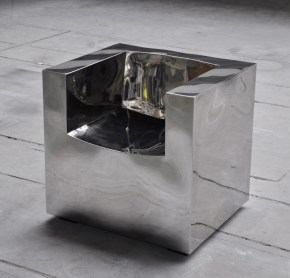 CUBO CHAIR STAINLESS STEEL BY POL QUADENS