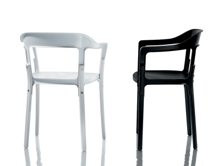 Magis-Steelwood-chair-with-white-steel-frame-and-legs-and-seat-in-beech-painted-white-also-black-steel-frame-with-legs-and-seat