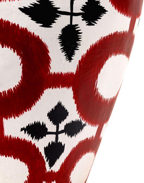 Point intelligent ISABELLE DE BORCHGRAVE PAPER VASE RED SERAX Vase CHAUSSURES Blanc Papier YT9839_0