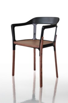 Steelwood chair walnut