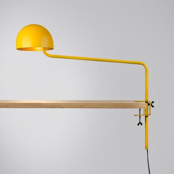 Long armed Officer desk yellow:gold
