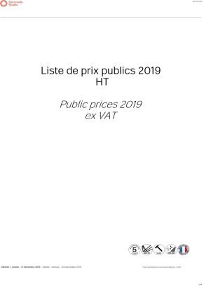 Sammode Studio - Tarifs HT 2019 - Public price list - 23 JAN 19-1