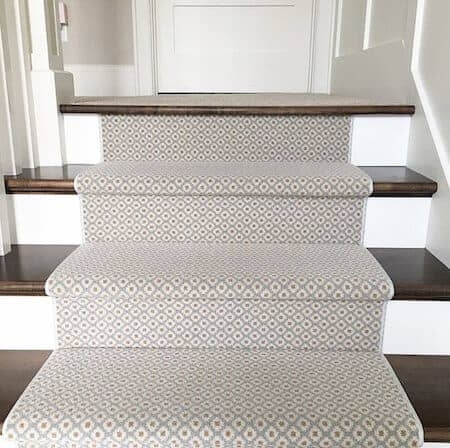 How To Choose And Lay A Stair Runner An Overview Caroline On Design   Carpet In Middle Of Stairs   Exposed Tread   Hardwood   Wood   Victorian   Popular