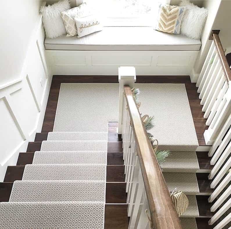 How To Choose And Lay A Stair Runner An Overview Caroline On Design | Cost Of Carpet For Stairs And Landing | Sisal Stair Runner | Handrail | Wood | Carpet Runner | Hardwood