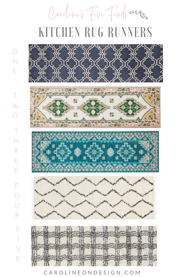 Caroline S Five Finds Trending Kitchen Runner Rugs