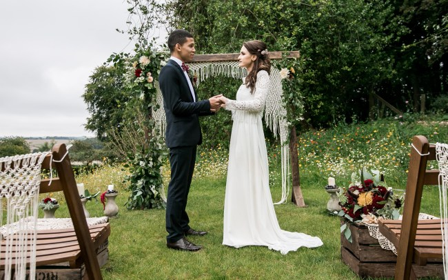 'macrame wedding ideas', 'macrame arch outdoor wedding', 'wedding photographer east london'