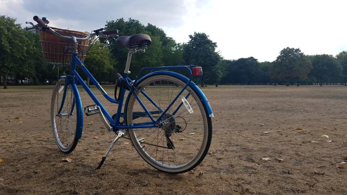 My Duchess Dawes blue bike in Victoria Park