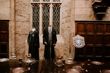 Ravenclaw uniform in the Hogwarts Great Hall