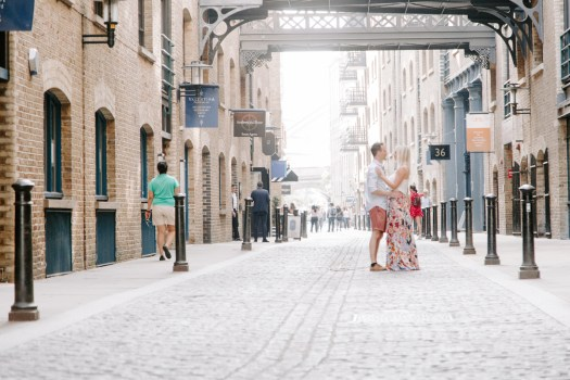 Shad Thames engagement shoot