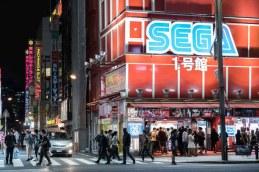 Tokyo crossing next to Sega tower in Akihabara