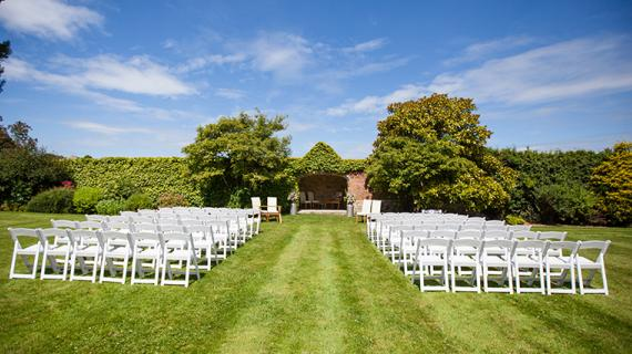 Notley Abbey outdoor wedding venue