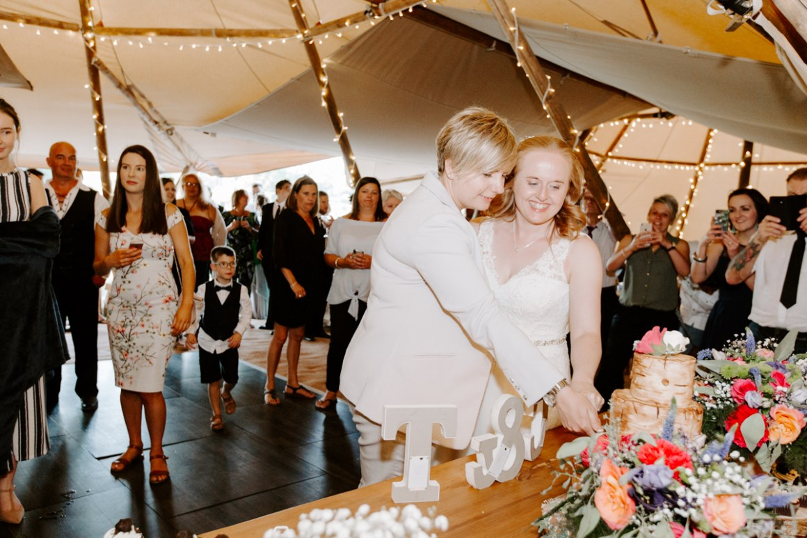 Fun and relaxed tipi wedding