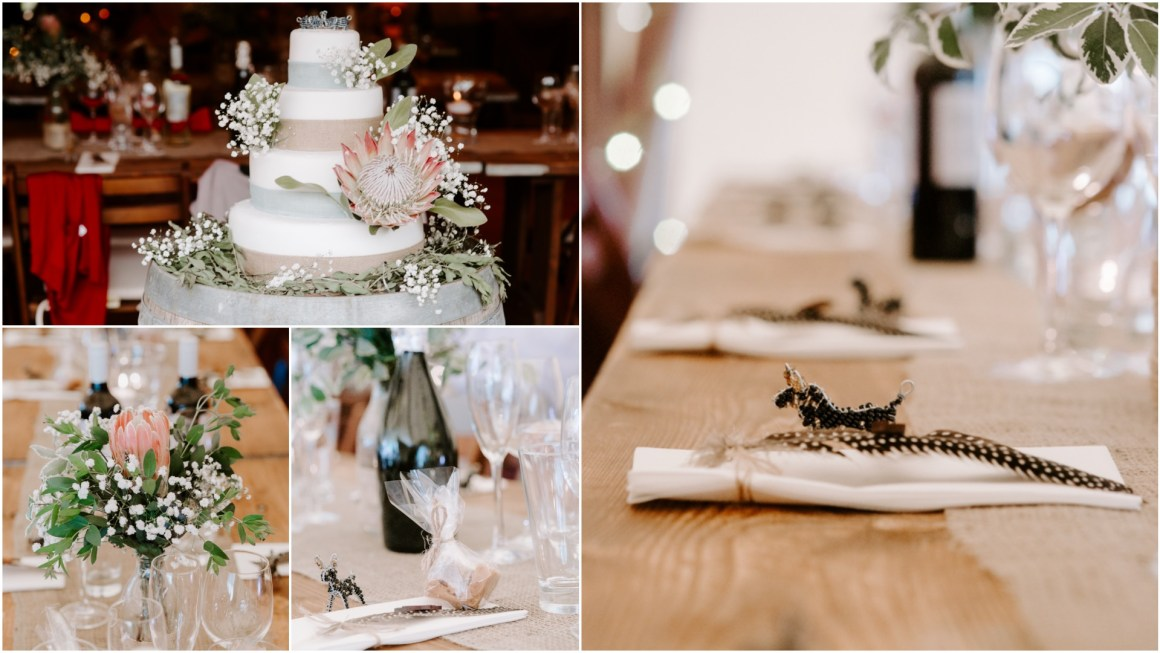 South African decor at Tipi wedding
