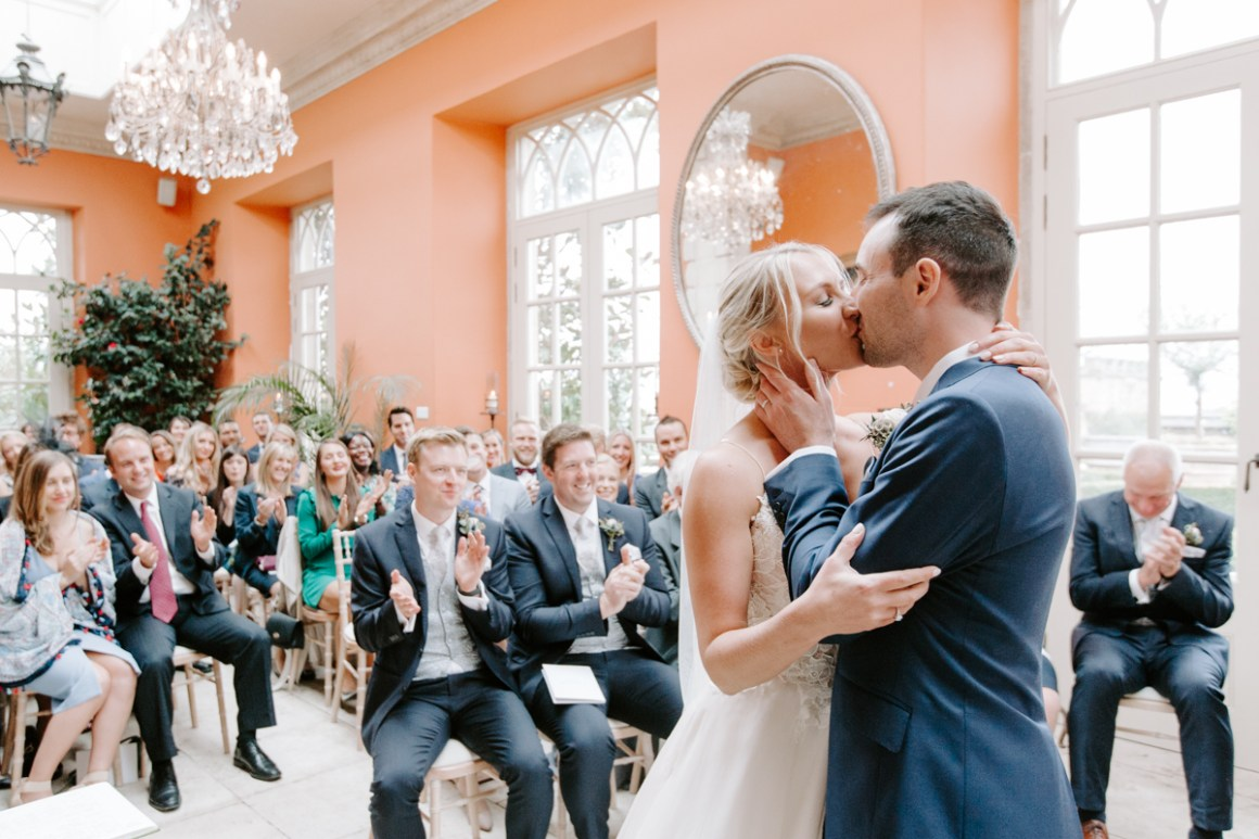 First kiss at the Lost Orangery at Euridge