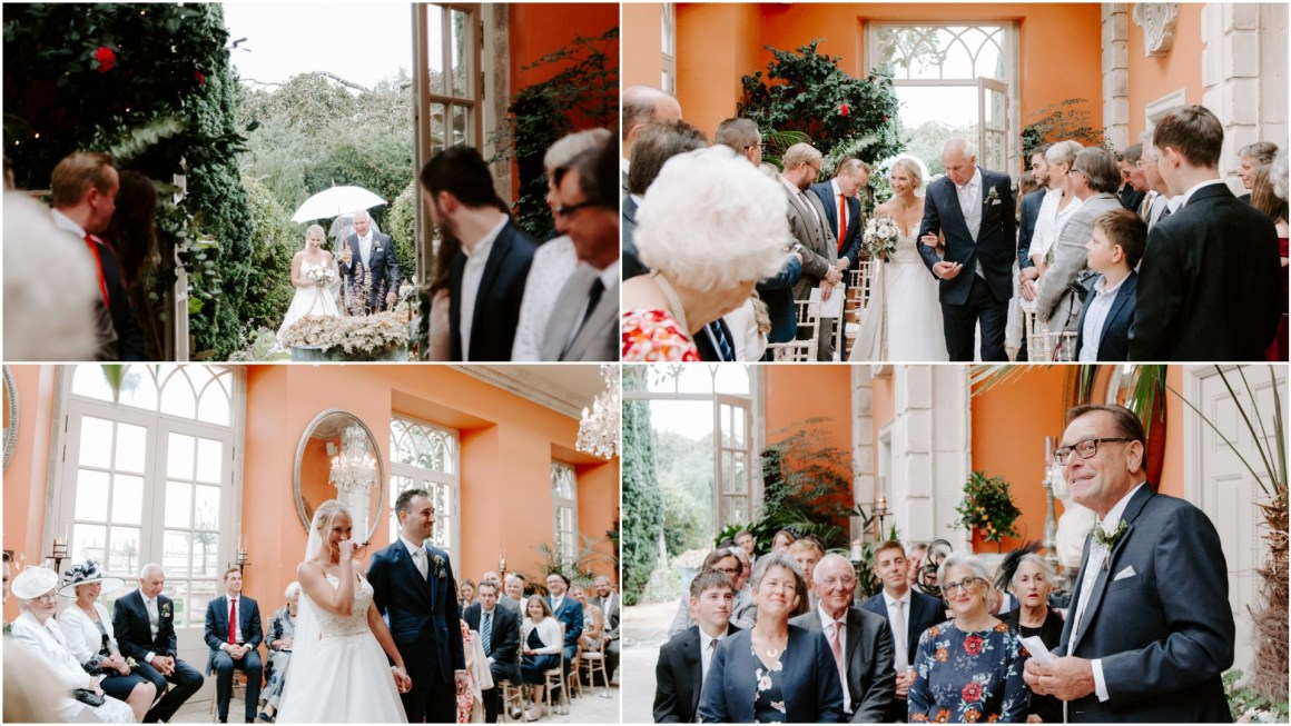 Wedding ceremony at the Lost Orangery