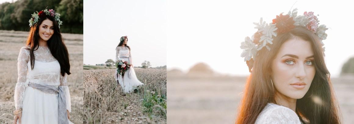 Sunset wedding photography at Longton Wood