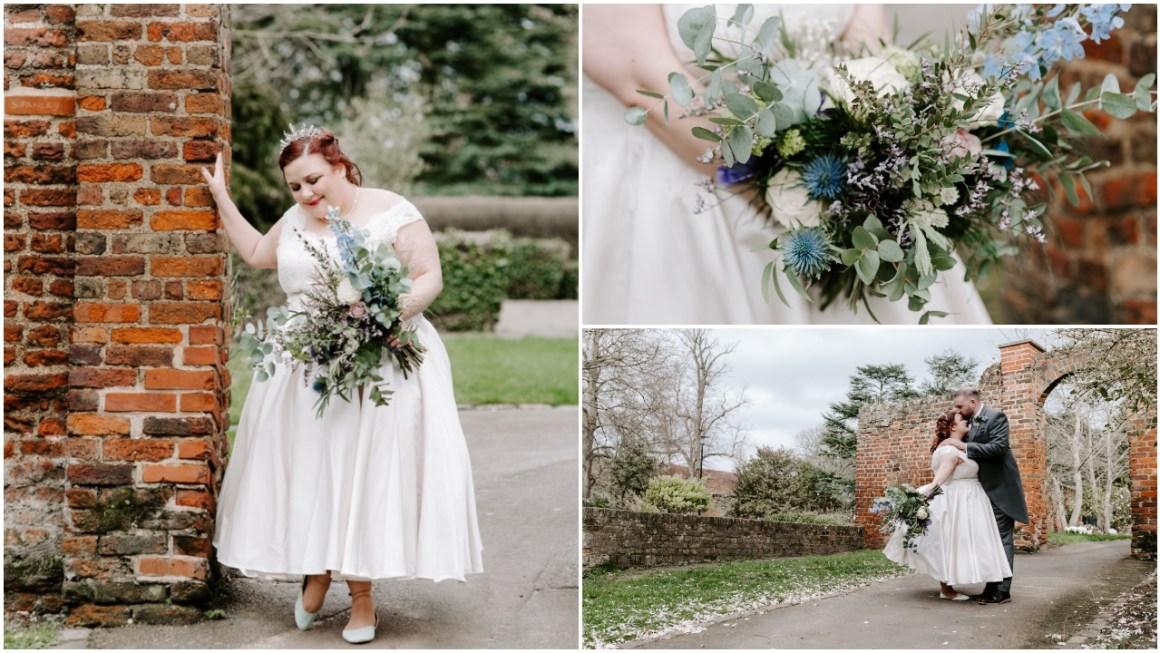 Bride wearing Fairy Gothmother wedding dress