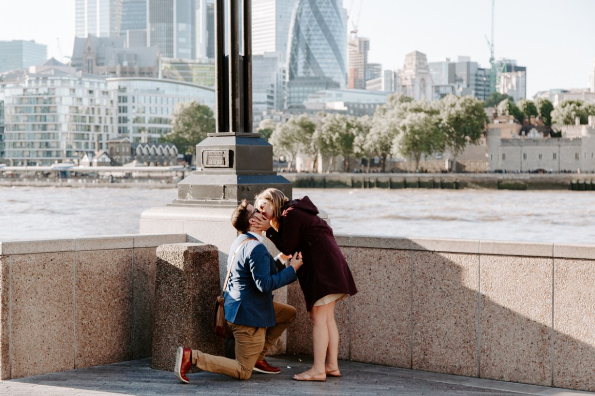 Caitie and Steve's proposal in London