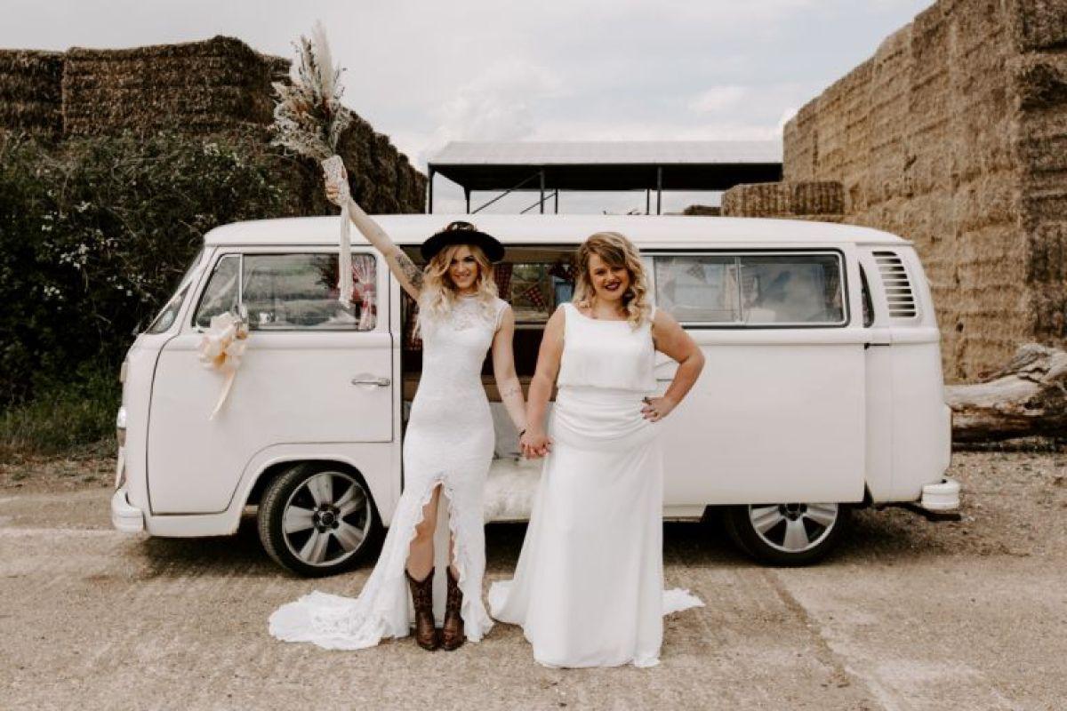 Boho wedding at the Barns at Lodge Farm, Epping