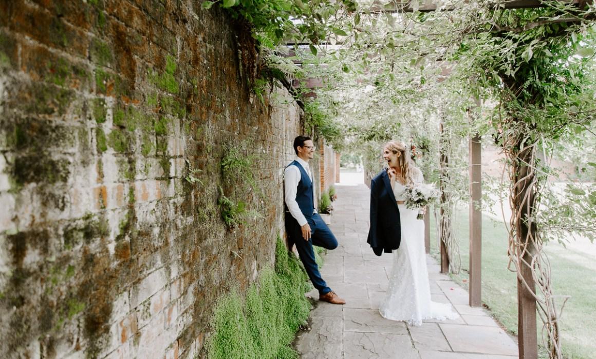 Fun wedding photography at Woodhall Manor
