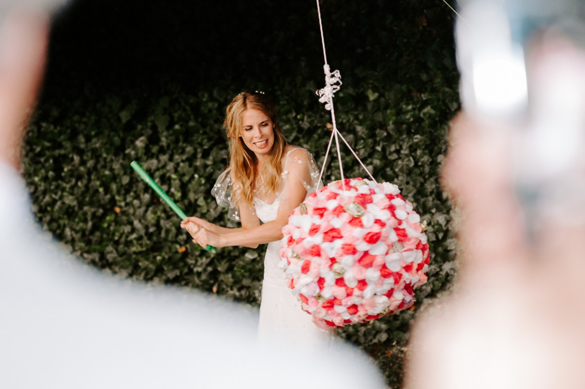 Wedding piñata smash