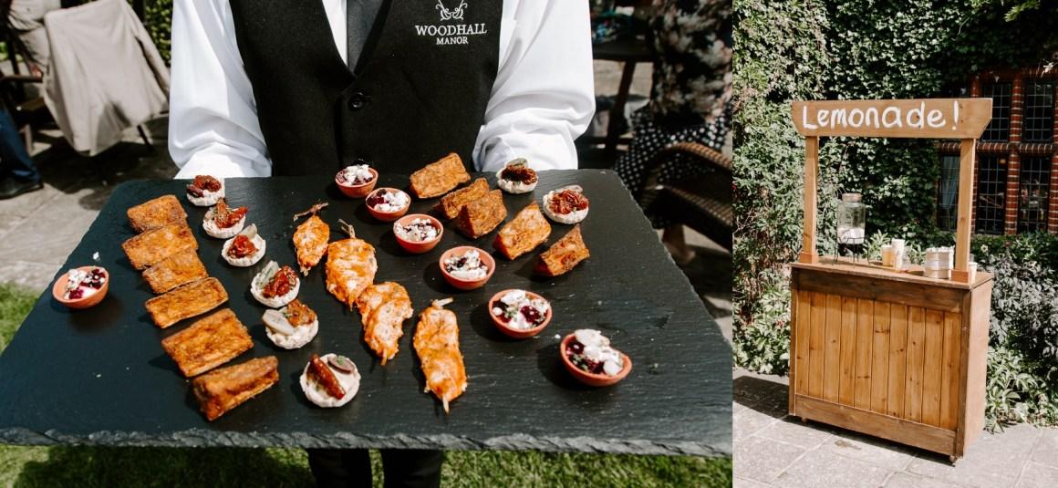 Woodhall Manor wedding catering