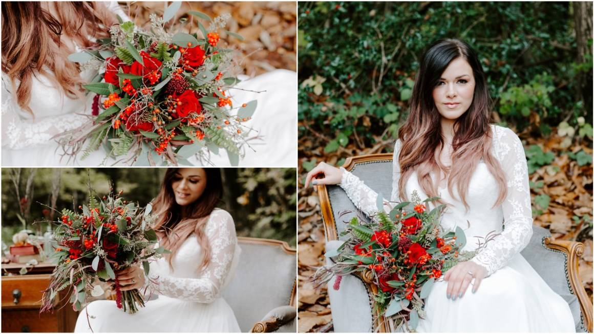 Boho autumn wedding at Longton Wood