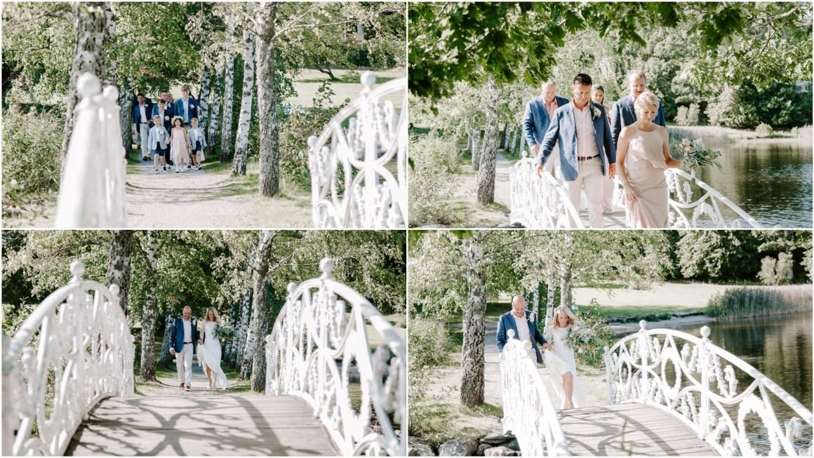 Lakeside outdoor wedding in Sweden