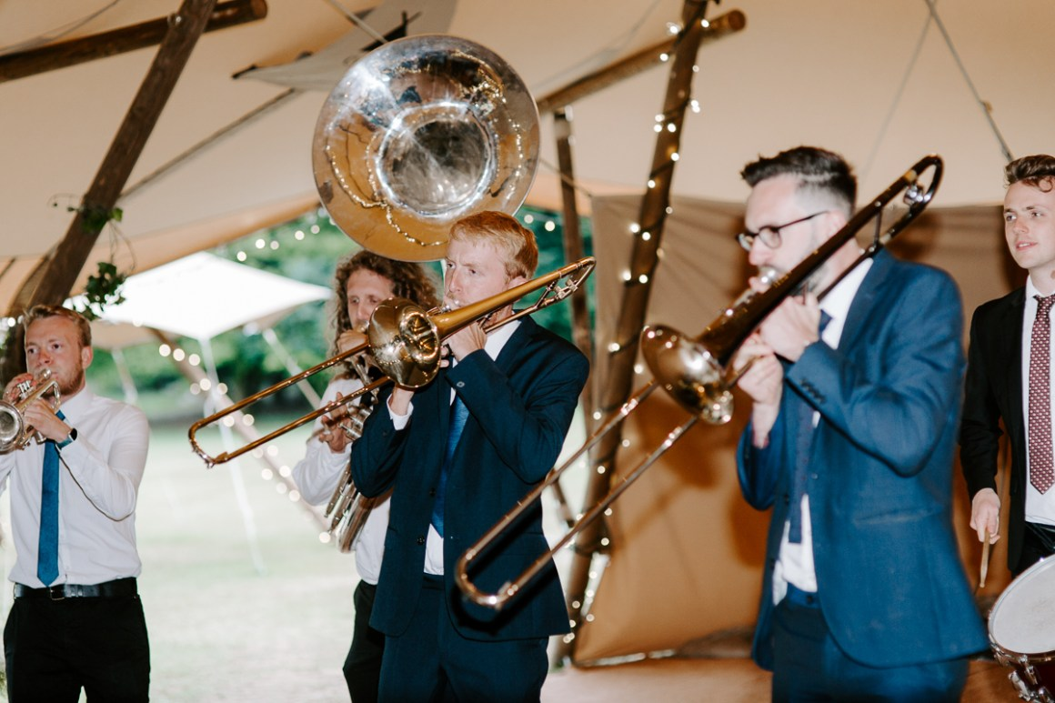 Horning Glory Wedding band at Country Tipis