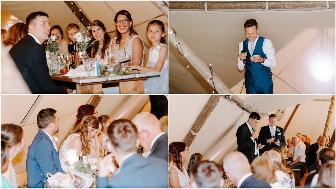 Wedding speeches at Vanstone Park wedding venue