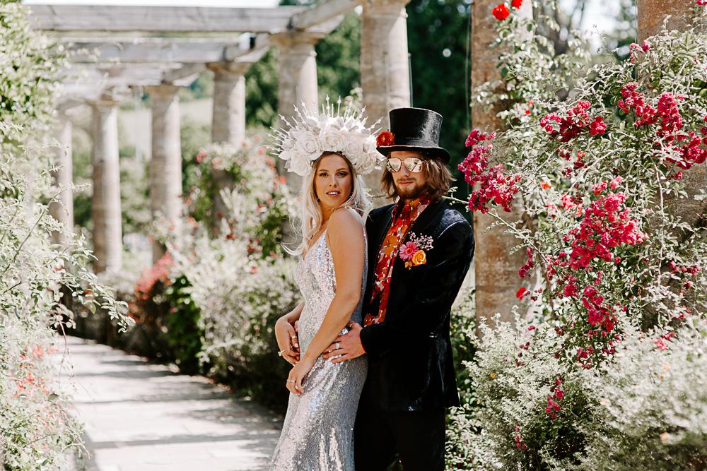 Wedding editorial at Woldingham School