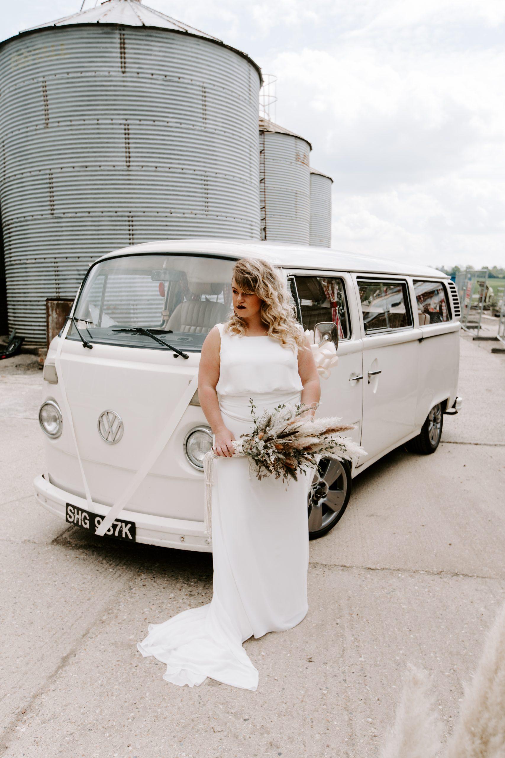 Bride at The Barns at Lodge Farm