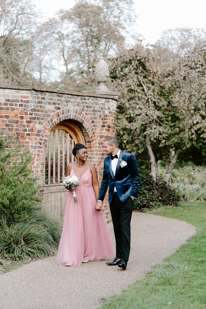 Bride and groom portraits in London