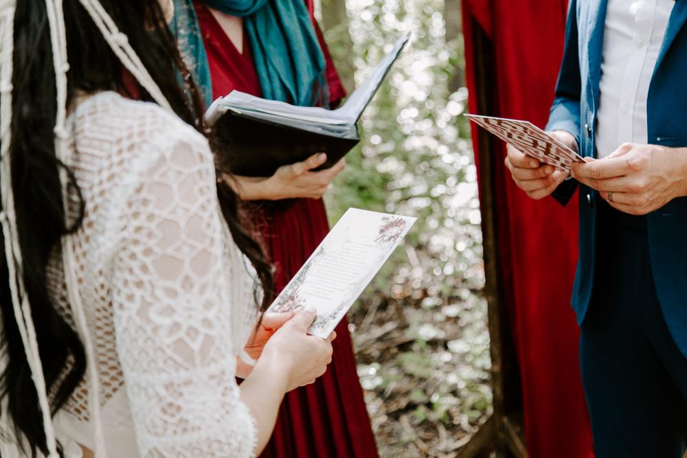 Outdoor woodland wedding in Essex