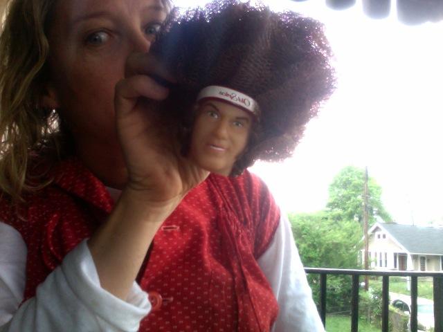 a very random Will Ferrel Loofah doll