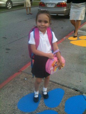 First Day of Kindergarten.