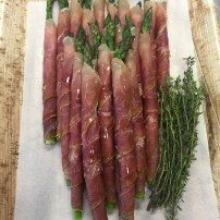 Asparagus wrapped in Proscuitto