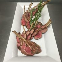 rosemary & garlic roasted rack of lamb