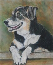 Entlebucher Mountain Dog, mountain dog painting