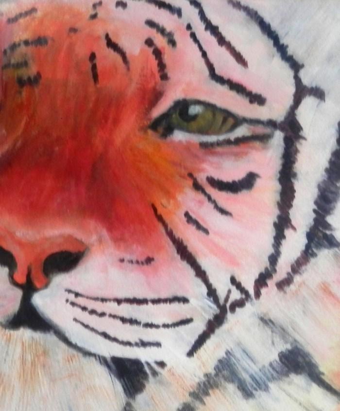 tiger painting, framed tiger portrait, acrylic tiger art, tiger art pritn, big cat art