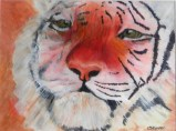 tiger painting, big cat art, tiger portrait