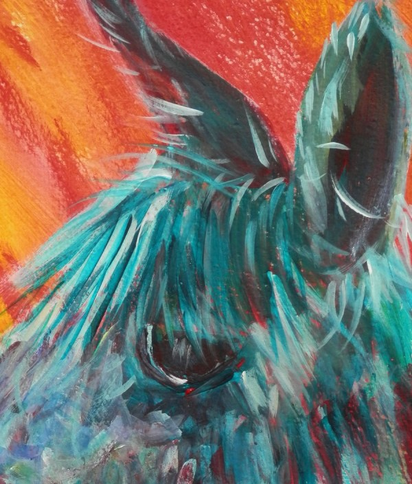 Alpaca painting, llama art, funky colours, framed alpaca painting, farm animal art, funky alpaca painting, colourful art, abstract farm animal wall decor, funky alpaca modern art print