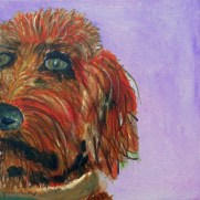 Golden Doodle painting, dog art