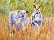 terriers painting, small dog art